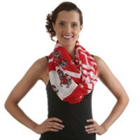 North Carolina State University Sheer Print Woman's Infinity Scarf