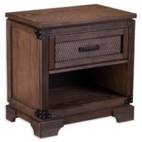 Southern Enterprises Drummond Single-Drawer Nightstand in Maple