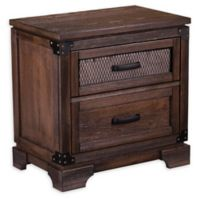 Southern Enterprises Drummond 2-Drawer Nightstand in Maple