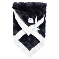 Zalamoon Plush Security Blanket in Black/Ivory