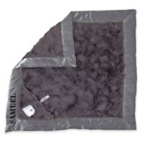 Zalamoon Plush Security Blanket in Charcoal/Ivory