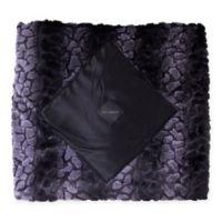 Zalamoon Satin Diamond Home Blanket in Black/Grey