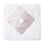 Zalamoon Satin Diamond Home Blanket in White/Ivory