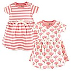 Touched by Nature Size 9-12M 2-Pack Organic Cotton Dresses in Light Pink