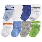 Luvable Friends® Size 0-6M 8-Pack Assorted Socks in Blue