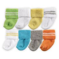 BabyVision® Luvable Friends® Size 0-6M 8-Pack Newborn Socks in Yellow