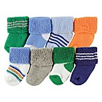 Luvable Friends® Size 0-3M 8-Pack Assorted Socks in Blue