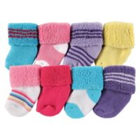 Luvable Friends® Size 6-12M 8-Pack Assorted Socks in Pink