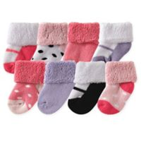 Luvable Friends® Size 6-12M 8-Pack Basic Cuff Socks in Pink