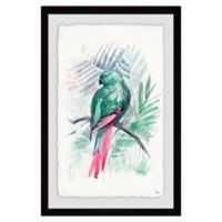 Marmont Hill Blissful Bird 30-Inch x 20-Inch Framed Wall Art