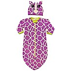 Sozo® 2-Piece Giraffe Bunting and Cap Set in Purple