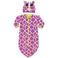 Sozo® 2-Piece Giraffe Bunting and Cap Set in Purple