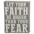 Three Girls and a Wish Let Your Faith Be Bigger 12-Inch x 16-Inch Wall Art