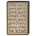 Three Girls and a Wish Think Deeply Speak Gently 8-Inch x 12-Inch Wall Art