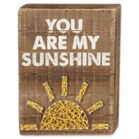 Three Girls and a Wish Your Are My Sunshine 8-Inch x 10-Inch Wall Art