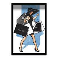 Haus of Arte Rodeo Dr. Walk 12-Inch x 18-Inch Framed Wall Art in Black/White