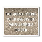 Haus of Arte Get It Together 12-Inch x 18-Inch Framed Wall Art