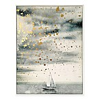 Haus of Arte Golden Sailing 18-Inch x 24-Inch Framed Wall Art