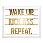 Haus of Arte Kick Ass! 24-Inch x 20-Inch Framed Wall Art