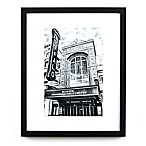 Historic Pictoric Shea's Buffalo Theatre 22-Inch x 18-Inch Framed Wall Art