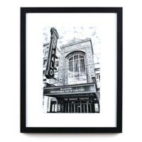 Historic Pictoric Shea's Buffalo Theatre 22-Inch x 18-Inch Framed Wall Art