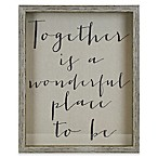 """Together Is a Wonderful Place to Be"" 17-Inch x 21-Inch Framed Wall Art"