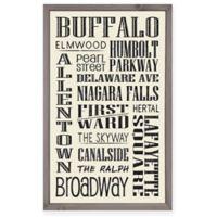Buffalo 15-Inch x 24-Inch Framed Wall Art