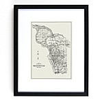 Historic Pictoric Buffalo Map 18-Inch x 22-Inch Framed Wall Art