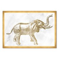 Haus of Arte Elephant 18-Inch x 12-Inch Framed Wall Art