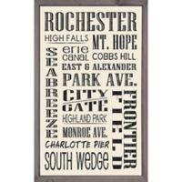 Rochester 15-Inch x 24-Inch Framed Sign Wall Art