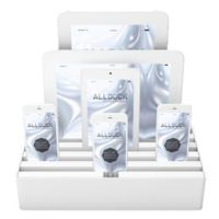 Alldock Classic Large 6-Port Charging Station Base in White
