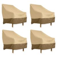 Classic Accessories® Veranda High Back Dining Patio Chair Covers in Pebble (Set of 4)