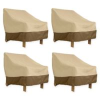 Classic Accessories® Veranda Deep Seated Patio Lounge Chair Covers in Pebble (Set of 4)