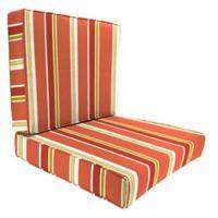 Jordan Manufacturing Heatwave Stripe 2-Piece Outdoor Deep Seat Cushion Set in Orange/Multi