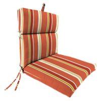 Jordan Manufacturing Heatwave Stripe Outdoor Dining Seat Cushion in Orange/Multi