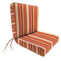 Jordan Manufacturing Heatwave Stripe Outdoor Boxed Edge Chair Cushion in Orange/Multi