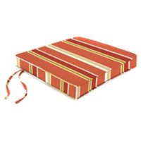 "Jordan Manufacturing Heatwave Stripe Outdoor 18"" Boxed Edge Chair Cushion in Orange"