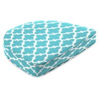 Print Contoured Boxed Seat Cushion in Ocean