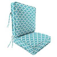 Print 2-Piece Deep Seat Chair Cushion in Ocean