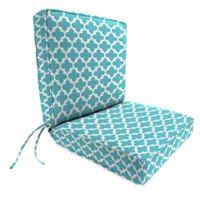 Print 44-Inch Boxed Edge Dining Chair Cushion in Ocean