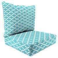 "Jordan Manufacturing Fulton 2-Piece Outdoor 24"" Deep Seat Chair Cushion in Ocean"