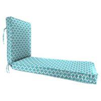"Jordan Manufacturing Fulton Outdoor 80"" Deep Seat Chaise Lounge Cushion in Ocean"