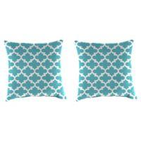 Jordan Manufacturing Print 18-Inch Square Throw Pillows in Ocean (Set of 2)