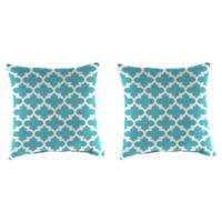 Print 16-Inch Square Throw Pillows in Ocean (Set of 2)