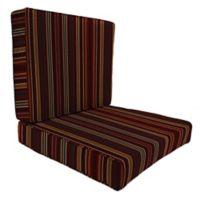 Stripe 46-Inch x 25-Inch Deep Seat Chair Cushion in Sunbrella® Cultivate Tandoori