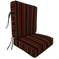 Stripe Outdoor 2-Piece Deep Seat Chair Cushion in Sunbrella® Cultivate Tandoori