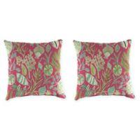 Sundream Daiquiri 18-Inch Square Throw Pillows (Set of 2)