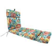 Jordan Manufacturing 72-Inch Outdoor Chaise Lounge Cushion in Blue/Multi