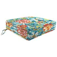 Print 21.5-Inch Boxed Edge Seat Cushion in Sunriver Sky