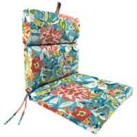 Jordan Manufacturing Outdoor Dining Chair Cushion in Blue/Multi